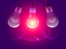 Stylish conceptual digital light bulbs design Royalty Free Stock Image