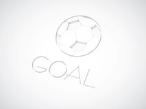 Stylish Conceptual Soccer. Vector Illustration Stock Photography