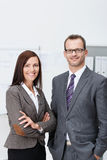Stylish confident business team stock images