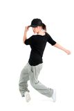 Stylish and cool hip hop style dancer posing Stock Image