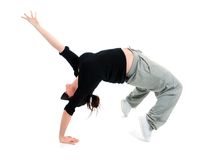 Stylish and cool hip hop style dancer posing Stock Photography