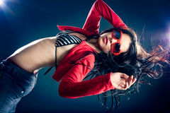Stylish and cool looking dancer girl. Royalty Free Stock Photography