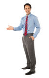 Stylish corporate gentleman posing Royalty Free Stock Image