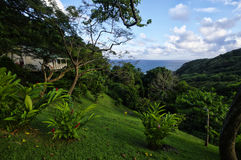 The stylish cottage on west coast of Dominica island on January 4, 2017. Castle Bruce i. CASTLE BRUCE, DOMINICA - JANUARY 4, 2017 - The stylish cottage on west royalty free stock photos