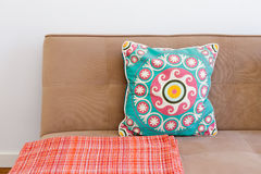 Stylish Couch with Pillow Royalty Free Stock Image