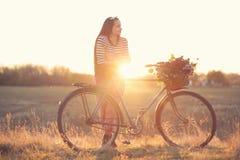 Stylish country girl Stock Image