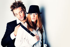 Stylish couple Royalty Free Stock Images