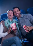 Stylish couple enjoying a movie Royalty Free Stock Photo