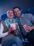 Stylish couple enjoying a movie Royalty Free Stock Photo
