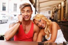 Stylish couple outdoors Stock Images