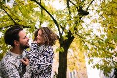 Stylish couple smiling Stock Image