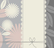 Stylish cover with flowers and leaves. For your designs Stock Photos
