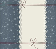 Stylish cover with snowflakes. And bows Stock Photography