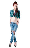 Stylish cow girl Royalty Free Stock Image