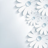 Stylish creative abstract background, 3d flower ch Royalty Free Stock Images