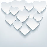 Stylish creative abstract background with 3d heart Royalty Free Stock Photos
