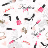 Stylish creative cosmetic pattern. Stock Images