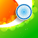 Stylish creative indian flag Stock Photo