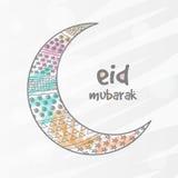 Stylish crescent moon for Eid festival celebration. Stock Photos
