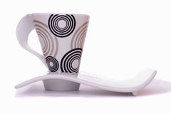 Stylish cup and saucer Stock Photo