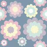 Stylish cute pattern with floral elements.  Royalty Free Stock Image