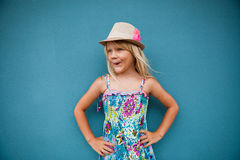 Stylish cute young girl Royalty Free Stock Image