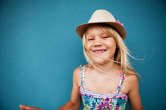 Stylish cute young girl Stock Images