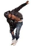 Stylish dance performance by black man Royalty Free Stock Photos