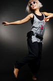 Stylish dancer in motion Royalty Free Stock Photography