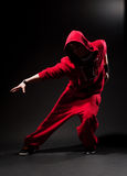 Stylish dancer in red Royalty Free Stock Image
