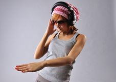 Stylish dancing young girl Stock Image