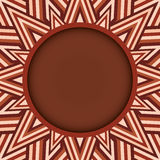 Stylish dark brown round text or photo frame on decorative background of brown shades Royalty Free Stock Photography