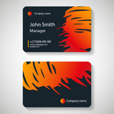 Stylish dark business card template. Vector illustration. royalty free illustration