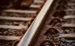 Stylish dark rain tracks stock photo. A beautiful brown coloured stylish rail tracks unique abstract stock photograph stock photos