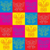 Stylish decorative background with  butterflies. Stylish decorative background with a colorful butterflies Royalty Free Stock Photos