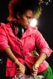 Stylish deejay Stock Photo
