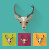 Stylish deer head. Animal portrait with flat design. Vector Illustration Royalty Free Stock Photography