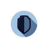 Stylish defense shield, protection idea graphic design element. Stock Image