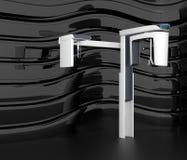 Stylish dental CBCT  on black curved background Royalty Free Stock Photography