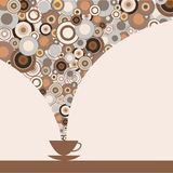 The stylish design of the cup of coffee Royalty Free Stock Photography