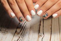 stylish design of manicure stock photos