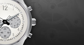 Stylish detailed watch on a dark background.Vector Stock Photos
