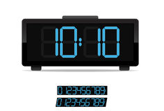 Stylish digital clock Stock Image