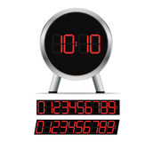 Stylish digital clock Stock Images