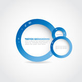Stylish digital  design. Blue banner Stock Photo