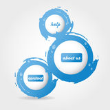 Stylish digital  design. Blue banner Stock Photography