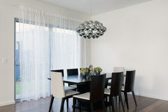 Stylish dining area Stock Images