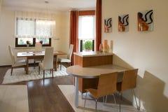 Stylish dining room Royalty Free Stock Image