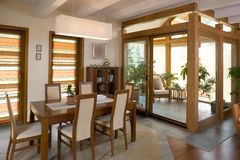 Stylish dining room Stock Photography