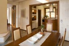 Stylish dining room Royalty Free Stock Photography
